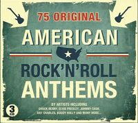 AMERICAN ROCK 'N' ROLL ANTHEMS - 3 CD BOX SET - CHUCK BERRY, ELVIS & MANY MORE