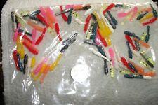 "100-Mixed-3/4""-Crapp ie-Panfish-Grub-Perch-Soft Fishing Jig-Maggot-Wax Worm-Lot"