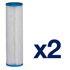 "2x 9 3/4"" 5 Micron Washable Water Filter Reusable Filter Bio Diesel, Rain Water"