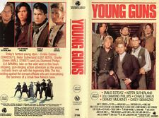YOUNG GUNS - Charlie Sheen -VHS - PAL -NEW - Never played! - Original Oz release