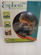 Esphera 360 3-D Plastic Spherical Puzzle Wolves Howling BRAND NEW SEALED