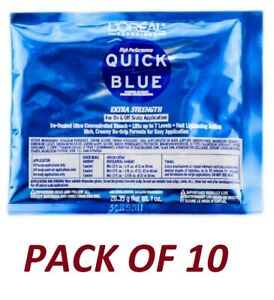 Loreal Quick Blue Powder Bleach Packets 1 oz (Pack Of 10)