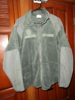 Large Regular Military Gen III Cold Weather Fleece Jacket Green Midweight Zipper