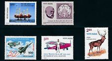 India 1982-1983 (5) MNH ISSUES ** PRISTINE** #957, #985, 988-990; CV $25
