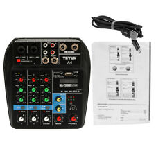 4 Channel Professional Powered Audio Mixer 48V power mixing Amplifier USB J2K9