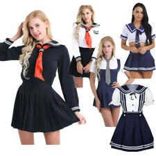 Womens Sexy Sailor Uniform Naughty School Outfit Costume Girls Fancy Dress Skirt