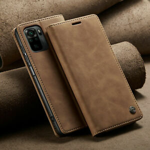 Leather Card Holder Flip Phone Case Cover for Xiaomi Hongmi Note 8 9 10 Pro Max