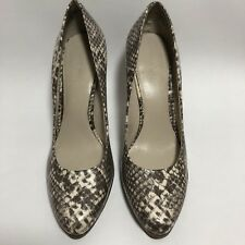Nine West Heels Women's Taupe and Ivory Shoes Size 8M