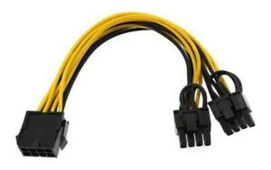 (9-pack) PCI-E 8-pin to GPU 2x 6+2-pin Power Splitter Cable PCIE PCI Express