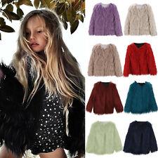 Toddler Kids Baby Girl Long Sleeve Faux Fur Jacket Warm Thick Fur Coat Outwear