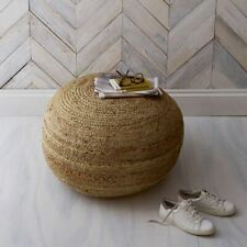 NEW The White Company Round Jute Pouffe Natural Rustic Seating Stool RRP £145