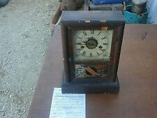 Vintage New Haven Waterbury 1870's Clock Company  USA  Shelf Clock