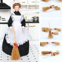 1:12 poupées de simulation de maison de poupée, balais miniatures en bois