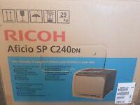 Ricoh Aficio SP C240 DN Laserdrucker NEU Farblaserdrucker Duplex LAN + 1XL Toner