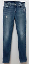 WOMENS 7 FOR ALL MANKIND THE SKINNY STRETCH FIT JEANS SIZE 26 X 29""