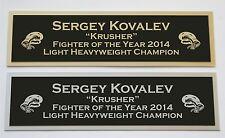 Sergey Kovalev nameplate for signed boxing gloves trunks photo