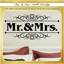 Mr and Mrs Married Wedding Couple Love Wall Vinyl Decor Art Sticker Decal S081