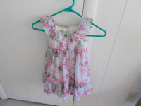 Laura Ashley Child's Dress 24 Months Layered Pink Blue Floral  For Pet Rescue