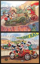 ST VINCENT DISNEY CHRISTMAS CARS STAMPS 2 S/S 1989 MNH AUTO BUICK POPE HARTFORD