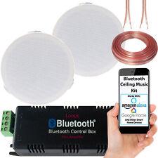 Bluetooth Ceiling Music Kit -Mini Amp & 2 Low Profile Speakers-Stereo HiFi Sound