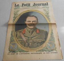 LE PETIT JOURNAL du 1 juillet 1917. LE GENERAL HERBERT PLUMER  en couverture