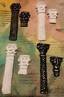 HANDMADE 6x Air Dry Clay Columns For Mixed Media,Cards,Journals, Art (Options)