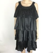 Zig-Kar Kansuwong Black Tiered Ruffle Cocktail Dress Size M NWT RRP$550 (BI2)