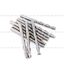 Neu 10 Stück 3.175mm CNC Double Two Flute Schaftfräser Fräser Spiralfräser 22mm