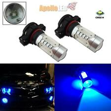2pcs H16 Blue High Power 11W 5202 CREE COB LED Bulbs Car Fog Daytime Lights #67B