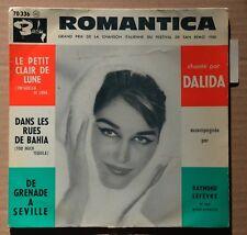 45t EP Dalida - Romantica - LANGUETTE