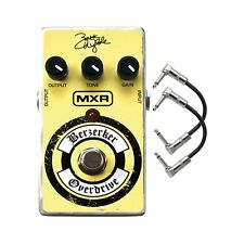 MXR ZW-44 Zakk Wylde Berzerker Overdrive Guitar Effects Pedal w/ 2 Patch Cables