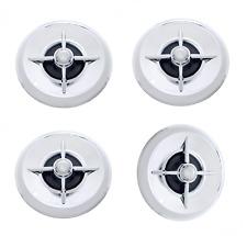 "(Set/4) Chrome 14"" Lancer Style Hubcaps Wheel Covers Crossbar Hot Rod Custom"