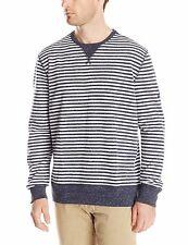 Nautica Men's Size XLarge Grey Navy Long Sleeve Stripe Sweater Shirt NEW $69.59