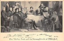 BR61723 sir walter scott and his literary friends at abbotsford scotland melrose