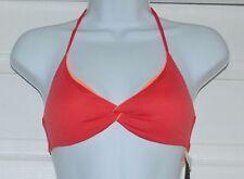 Polo RALPH LAUREN Reversible Orange Coral Halter Bikini Top Sz XS (K14)
