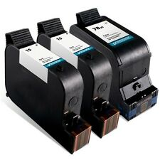 3pk Printronic For Hp 15 78 C6615DN C6578AN Black Color Ink Cartridge