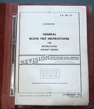 Reciprocating Aircraft Engines General Block Test Instructions 1958 Air Force Bk