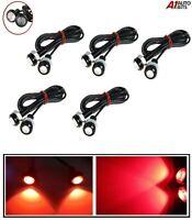 10 Ojo de Águila LED Gran Potencia 12v Motor Coche Luz Diurna Running Rojo Luces