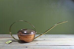 Vintage Merkl West Germany Succulent Watering Can Mid Century Brass & Copper