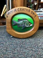 Have a Crappie Day toilet seat wallhanger-Man cave decor
