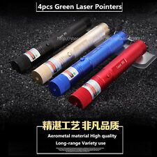 4x Green Laser Presentation Pointer Pen 532nm Lazer + Starry Head Colorful Shell