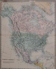 1884 LETTS MAP NORTH AMERICA UNITED STATES MEXICO DOMINION OF CANADA GUATEMALA