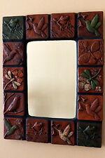 "Ceramic Art Tile Mirror by Nancy Cannon 17-3/4"" x 22-1/4"""