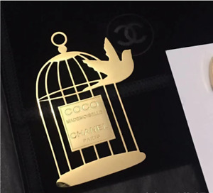 CHANEL pin brooch Coco Mademoiselle bird cage NEW rare VIP GIFT