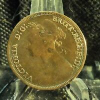 CIRCULATED 1880 1/2 PENNY UK COIN(72119)1, FREE DOMESTIC SHIPPING!!!!!