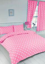 Baby Pink & White Polka Dot Ragazze Adolescenti Studente Letto Matrimoniale Copripiumino Set