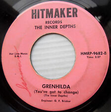 INNER DEPTHS 60's garage rocker 45  GRENHILDA b/w NOWHERE  Farfisa  Cheese F2055