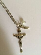 Pearl Silver Plated Religious Costume Necklaces & Pendants