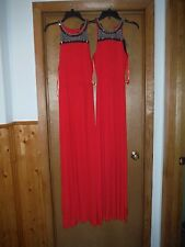 Sleeveless Maxi Dresses APT.9 size XL,XS,color Red + Exclusive Dec,collar NWT
