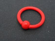16ga Nuevo. Rojo intenso De Acero Inoxidable Cerrado Bola anillo de nariz